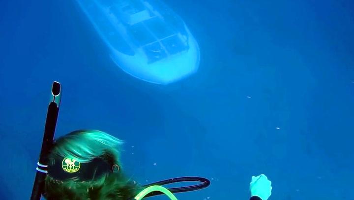 Her innser dykkerne at de ikke er alene på havbunnen