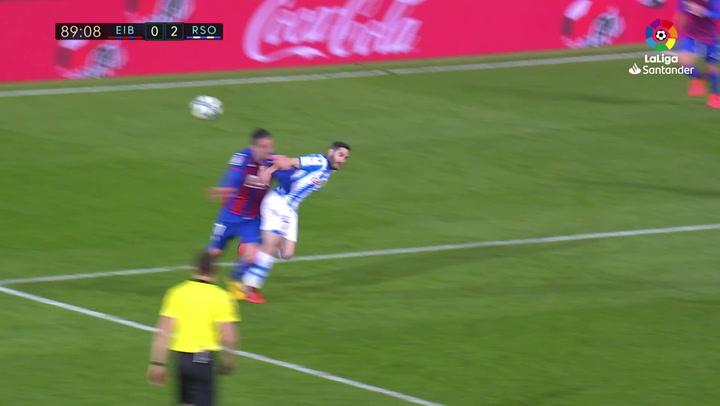 Gol de Charles (p.) (1-2) en el Eibar 1-2 Real Sociedad