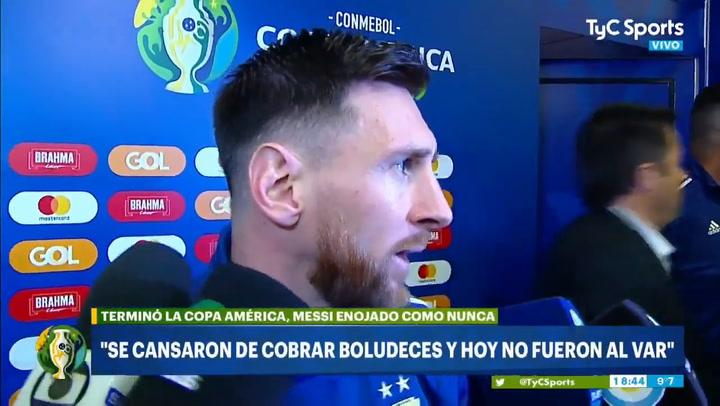 Resultado de imagen para MESSI MOLESTO CON LA CONMEBOL