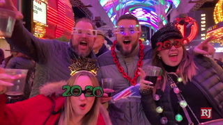 Las Vegas crowds ready for the new year on Fremont Street