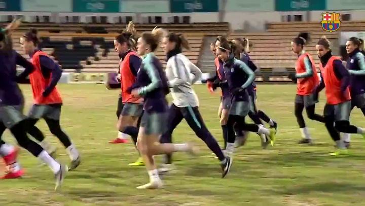 Así fue el entrenamiento del Barça femenino previo a la vuelta de cuartos de Champions