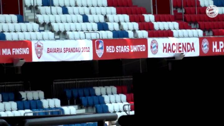 ¡Así muestran los aficionados del FC Bayern su apoyo contra el Eintracht!