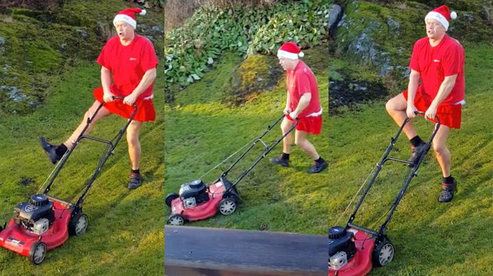 Vær-frustrert nordmann klipper julen inn