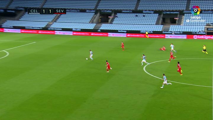 Gol de Aspas (2-1) en el Celta 3-4 Sevilla