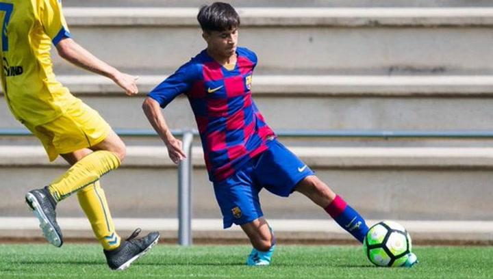 Así jugaba Juan Larios en las categorías inferiores del FC Barcelona