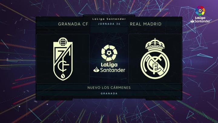 LaLiga (J36): Resumen y goles del Granada 1-2 Real Madrid