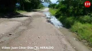 Pobladores de aldea en Comayagua exigen a las autoridades la reparación de carretera