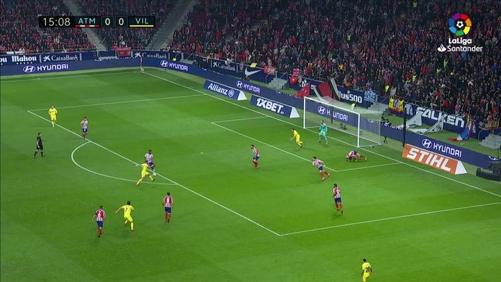 Gol de Alcácer (0-1) en el Atlético de Madrid 3-1 Villarreal