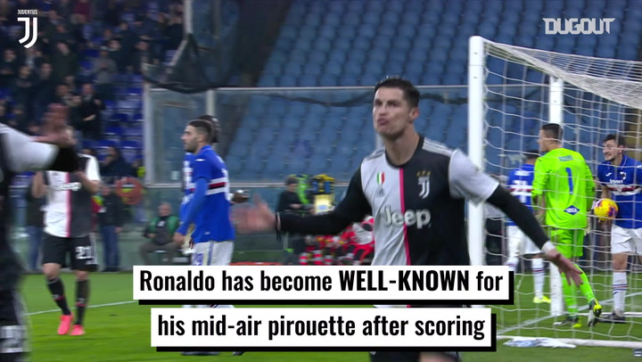 Cristiano Ronaldo's trademark celebration