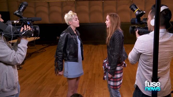 Shows: Fuse News: Miley Cyrus Press Clip 020513