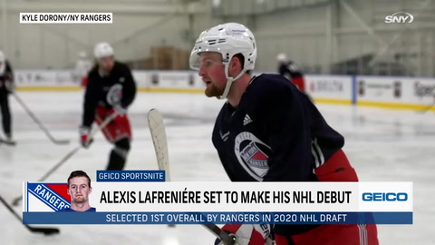 Previewing Rangers rookie Alexis Lafreniere's NHL debut