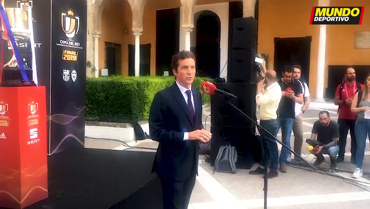 Guillermo Amor habla antes de la cena de directivas en los Reales Alcázares