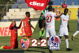 ¡Real Sociedad le empata a Olimpia en Olanchito con gol de Kendrick Cárcamo!
