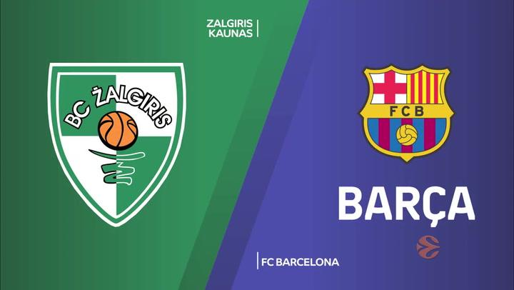 Euroliga: Zalgiris Kaunas - FC Barcelona