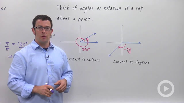 Radian Measure of Angles - Problem 3