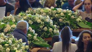 Dolor En Funeral De Víctimas Del Puente Morandi En Italia