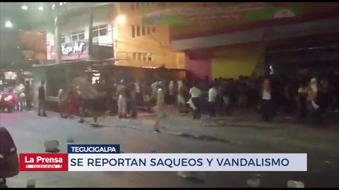 Se reportan saqueos y vandalismo en Tegucigalpa