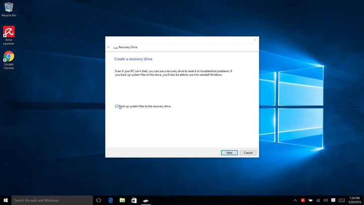 When you can't create the Windows 10 Recovery Drive, try these three