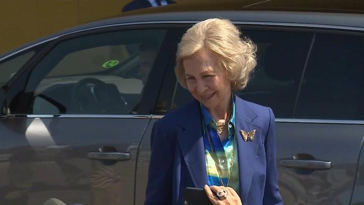 La Reina Sofía visita a don Juan Carlos en el hospital