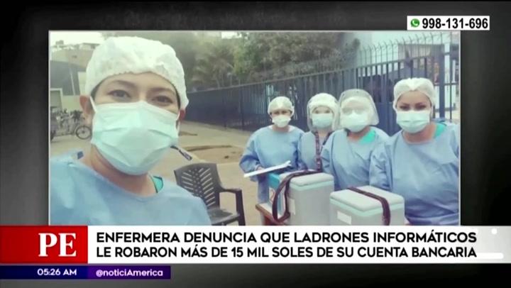 Ciberdelincuentes robaron más de 15 mil soles a enfermera que atendía a pacientes COVID-19