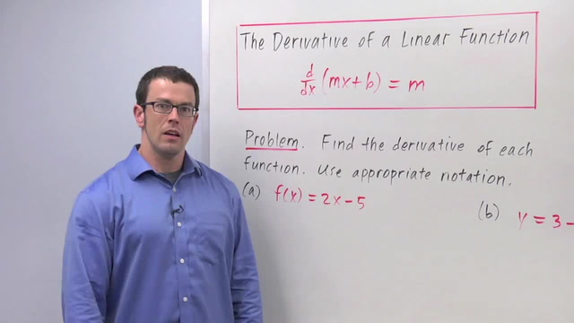 Derivatives of Linear Functions - Problem 1