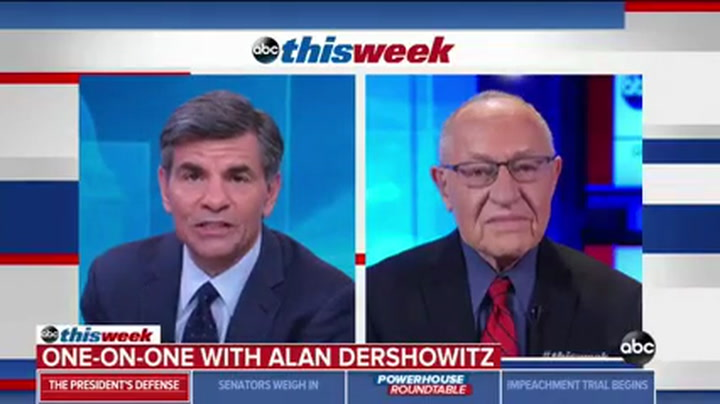 Dershowitz: 'The Articles of Impeachment are Two Noncriminal Actions'