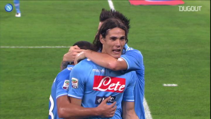 Edinson Cavani's hat-trick vs AC Milan
