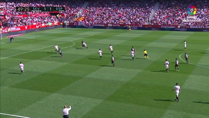 Gol de Wu Lei (1-2) en el Sevilla 2-2 Espanyol