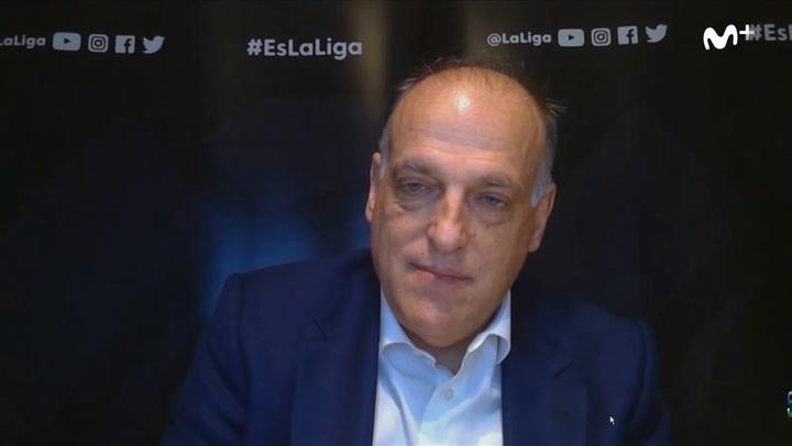 Javier Tebas:  El 11 de junio como posible fecha de inicio del campeonato
