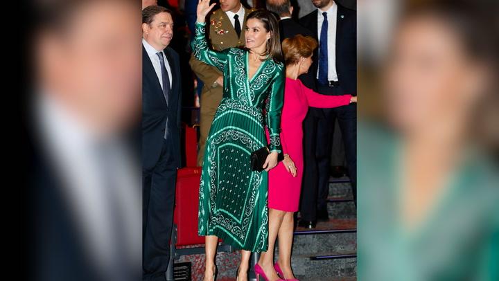 El vestido favorito de la reina Letizia se cuela en la boda de Jaime de Borbón-Dos Sicilias