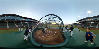 Aviators batting practice
