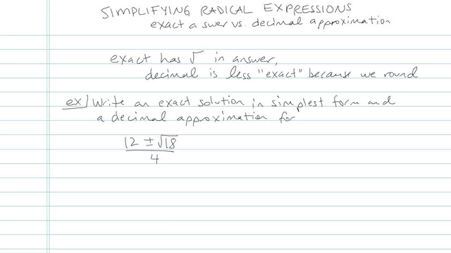 Simplifying Radical Expressions - Problem 8