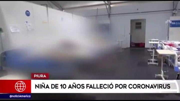 Piura: menor de 10 años falleció víctima del coronavirus