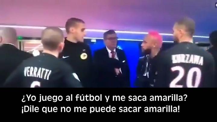 """Neymar: """"¿Juego al fútbol y me llevo una amarilla?"""""""