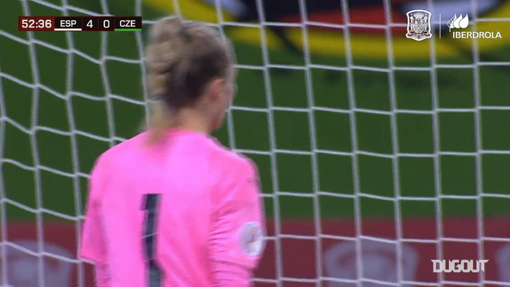 Alexia Putellas's superb volley goal for Spain