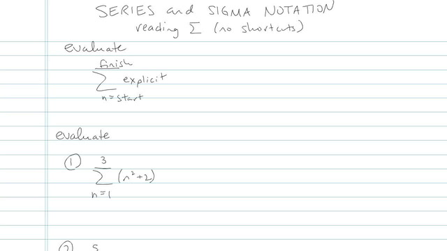 Series and Summation Notation - Problem 7