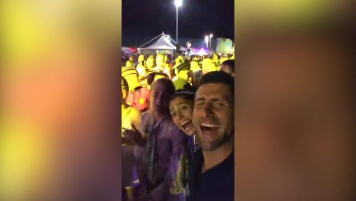 Djokovic compartió un vídeo disfrutando con sus amigos en un concierto del Adria Tour