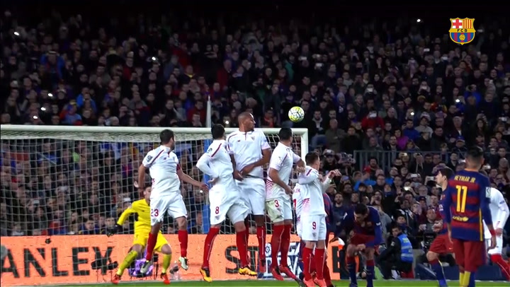 Leo Messi's top 3 free-kicks vs Sevilla