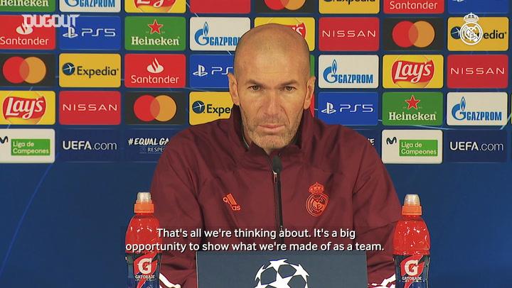 Zinedine Zidane: 'We want to finish top of the group'