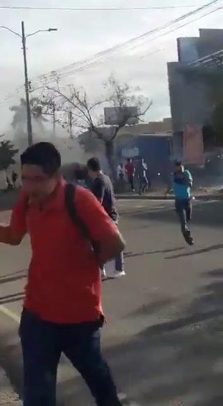 Así fue el enfrentamiento durante el desalojo en Villanueva, Cortés