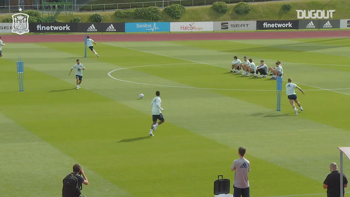 High-intensity in training as Spain prepare for their game vs Switzerland