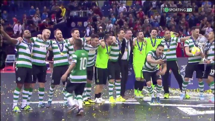 El Sporting, nuevo campeón de Europa de fútbol sala