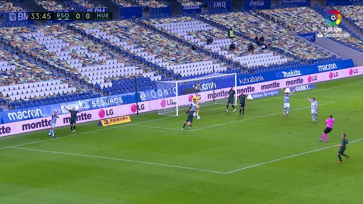 Gol de Oyarzabal (1-0) en el Real Sociedad 4-1 Huesca