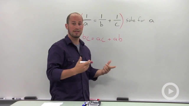 Solving a Rational Equation for a parameter - Problem 1