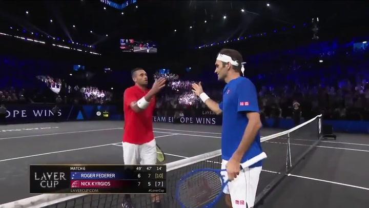 Federer vence a Kyrgios en la Laver Cup.mp4