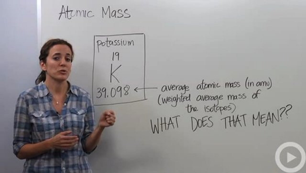 Atomic Mass Concept Chemistry Video By Brightstorm