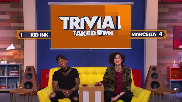 Marcella Arguello and Kid Ink Reveal Their Best Moonwalk Dance: Trivial Takedown Sneak Peek