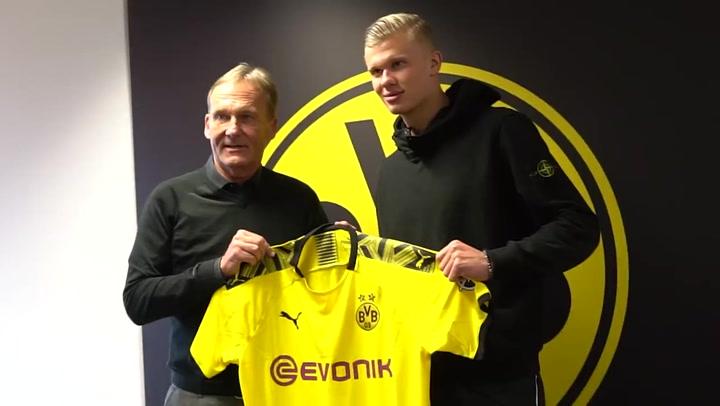 Erling Haaland firmó por el Borussia Dortmund en 2019 y tiene contrato hasta el 2024