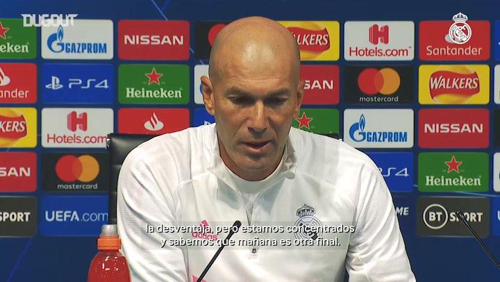 Zidane: 'Para nosotros es otra final e intentaremos hacer un gran partido'