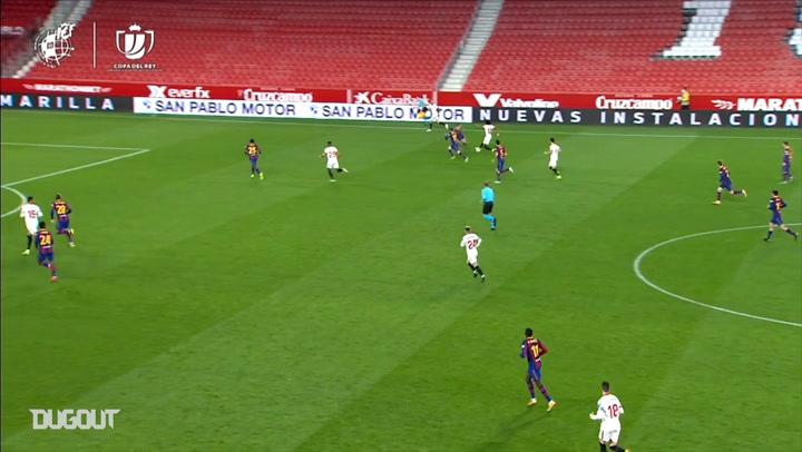 Centre-back Koundé scores against Barcelona after impressive run